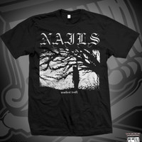 NLS UNSILENT DEATH TEE ON BLACK