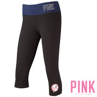 New York Yankees Victoria's Secret PINK® Crop Yoga Legging - MLB.com Shop