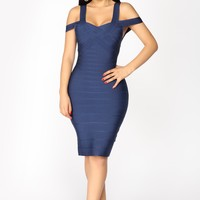 Teresa Bandage Dress - Navy