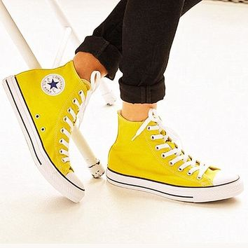 Converse All Star Sneakers Adult High-Top Leisure shoes Yellow