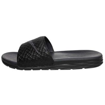 ONETOW NIKE BENASSI SOLARSOFT SLIDE - SLIPPERS MAN'S - BLACK/ANTHRACITE -COD.7054740914