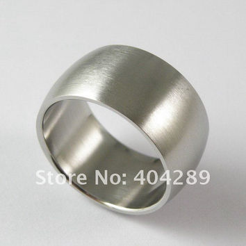 12mm Stainless Steel Super Wide Ring Thumb Arc Matt Rings for Men Women Punk Accessories