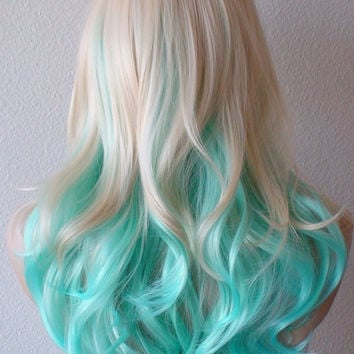 Summer Special Blonde Mint Teal Color From Kekeshop On Etsy