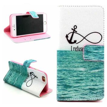 Infinite Print Leather Case Cover Wallet for iPhone 6 / iPhone plus-170928