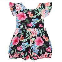 Fashion Baby Clothing Cotton Newborn Toddler Baby Girl Clothes Floral Romper Sun-suit Outfits 0-24M