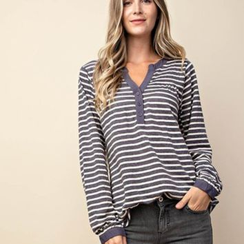 Hope Striped Henley