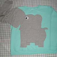Elephant Trunk sleeve sweatshirt ladies XL  Light mint green