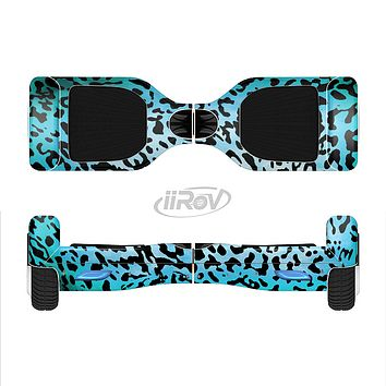 The Hot Teal Cheetah Animal Print Full-Body Skin Set for the Smart Drifting SuperCharged iiRov HoverBoard