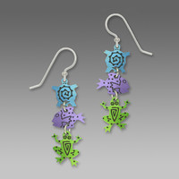 Sienna Sky Earrings - Three-Part with Turtle, Fish and Frog