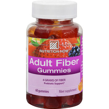 Nutrition Now Fiber Gummies Blackberry Peach and Strawberry - 60 Gummies