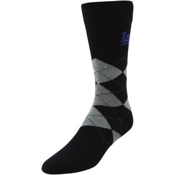 L.A. Dodgers Argyle Tall Socks - Black/Gray
