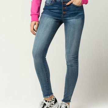IVY & MAIN Fray Ankle Womens Skinny Jeans