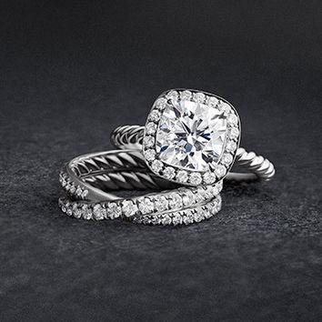 DY Crossover Capri Engagement Ring in Platinum