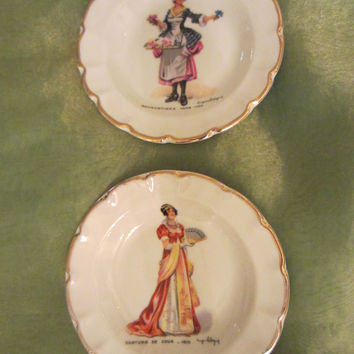 Limoges France Costume De Cour Signed Portrait Collector Plates