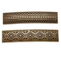 Gold Combo Etched Metal Barrettes - 2 Pack by Charlotte Russe