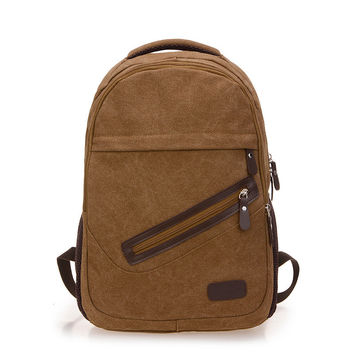 On Sale College Stylish Comfort Back To School Hot Deal Casual Canvas Backpack [10648211587]