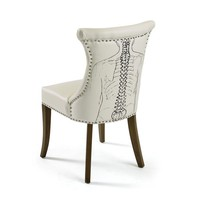 Backbone White Leather Chair