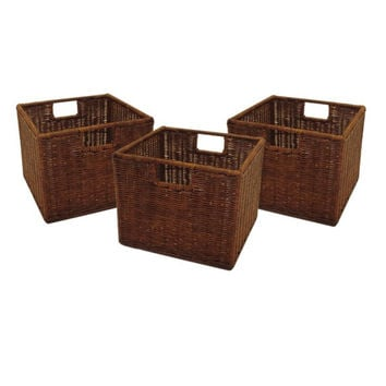 Leo Set of 3 Wired Baskets, Small