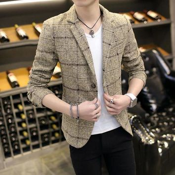 DCCKON3 New Casual Blazer Men Fashion Suits Masculine Coat Button Suit Men casul jacket plus size M-3xl free shipping