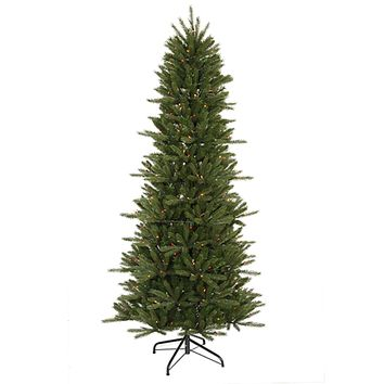 6.5' Pre-Lit Slim Vermont Fir Instant Shape Artificial Christmas Tree - Multi