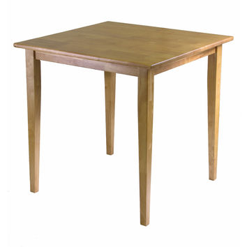 Groveland Square Shaped Wooden Light Oak Dining Table by Winsome Woods