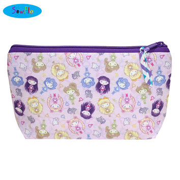 NEW! Sailor Moon Makeup Bag-Anime Makeup Case-Manga Zip Bag-Large Zipper Pouch