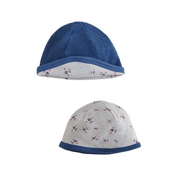 Organic Cotton Hat - Airplane (reversible)