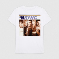 Men's Nsync Short Sleeve Graphic T-Shirt - White