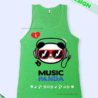 The Music Panda Music K-Pop Tank Top
