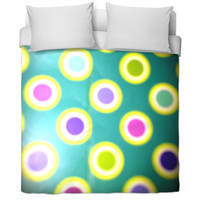 Colorful dots bed spread