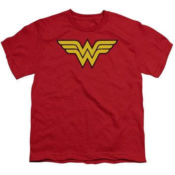 Wonder Woman Logo Short Sleeve Youth 18/1
