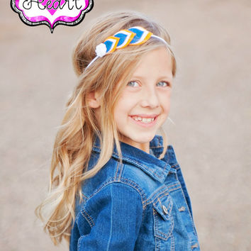 Felt Feather Headband - Modern Girls - Layered Felt Flower - 100% USA made felt - Clip -Wool blend felt - Baby Child Teen Adult