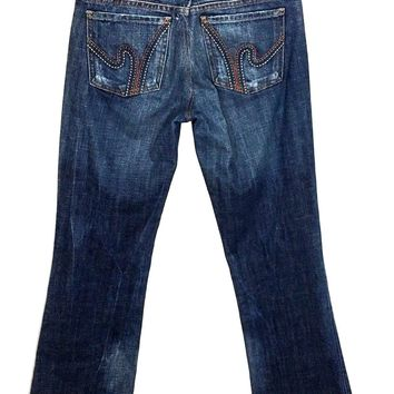 Citizens of Humanity Jeans Ric Rac #108 Low Waist Boot Cut Stretch Womens 27-Preowned