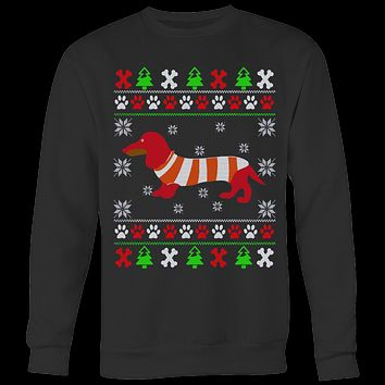 Dachshund Ugly Christmas Sweatshirt & Hoodies