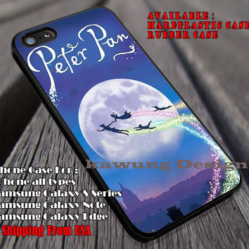 Flying To The Sky, Peterpan, Never Grow Up, Disney Lesson, Princess, case/cover for iPhone 4/4s/5/5c/6/6+/6s/6s+ Samsung Galaxy S4/S5/S6/Edge/Edge+ NOTE 3/4/5 #cartoon #animated #disney #peterpan ii
