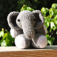 Eliza The Elephant - Amigurumi Crochet Stuffed Toy