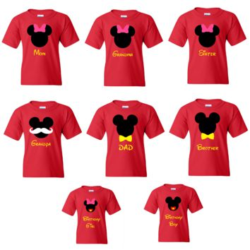 TurnTo Designs - Disney Mickey and Disneyland Family trip vacation shirts with Custom names