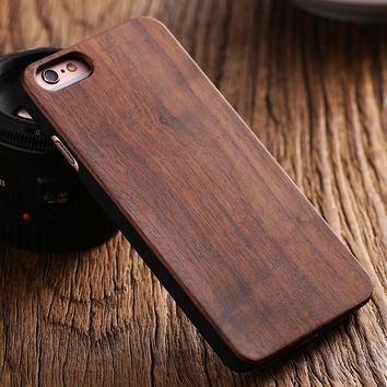 FLOVEME Real Wood Case For iPhone 6s Case iPhone 7 7 Plus Cases Natural Wood Hard Back Phone Cover For iPhone 5 5s Cases Coque