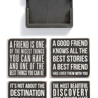 Primitives by Kathy 'Friends' Wood Coasters (Set of 4)