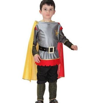 ESB6F Roman Warrior Knight Children Cosplay Hallowean Carnival Party Boy Prince King Kids Costumes Masquerade Suit CO55161173