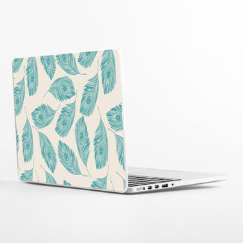 Peacock Feathers Laptop Skin