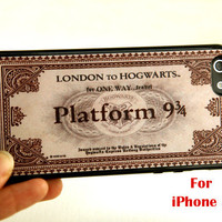 iPhone 5 Case, harry potter iphone case, Express Train Ticket  iphone 5 case, hogwarts express train ticket, hogwarts