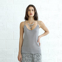 Knitted Tank Top, Silver