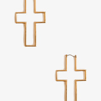 Cutout Cross Earrings