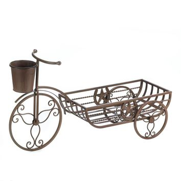 Cast Iron Lone Star Tricycle Planter