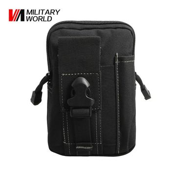 Military World 600D Tactical Molle Belt Waist Bag Utility Pouch Outdoor Phone Case Purse Pouches Pack For Iphone 7 Hunting Bags