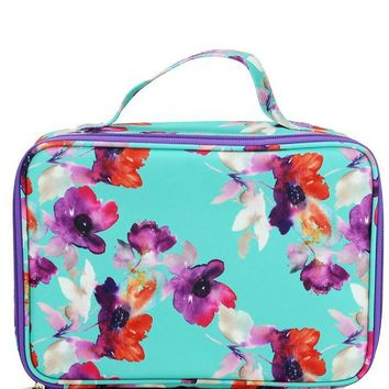 Canvas Lunch Bag | Mint Floral