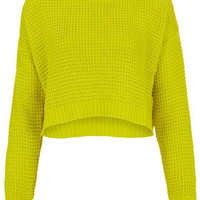 Knitted Textured Stitch Crop - New In This Week  - New In