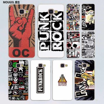 MOUGOL Punk Rock transparent hard case cover for Samsung Galaxy A3 A5(2016) A7  A7(2017) A8 A9