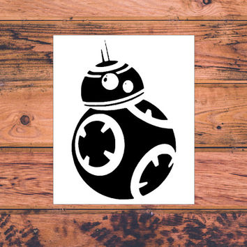 Star Wars BB8 Inspired Decal | Star Wars Silhouette | Star Wars Trilogy Decal | Star Wars Logo | Nerdy Decal | Star Wars Nerd | 361